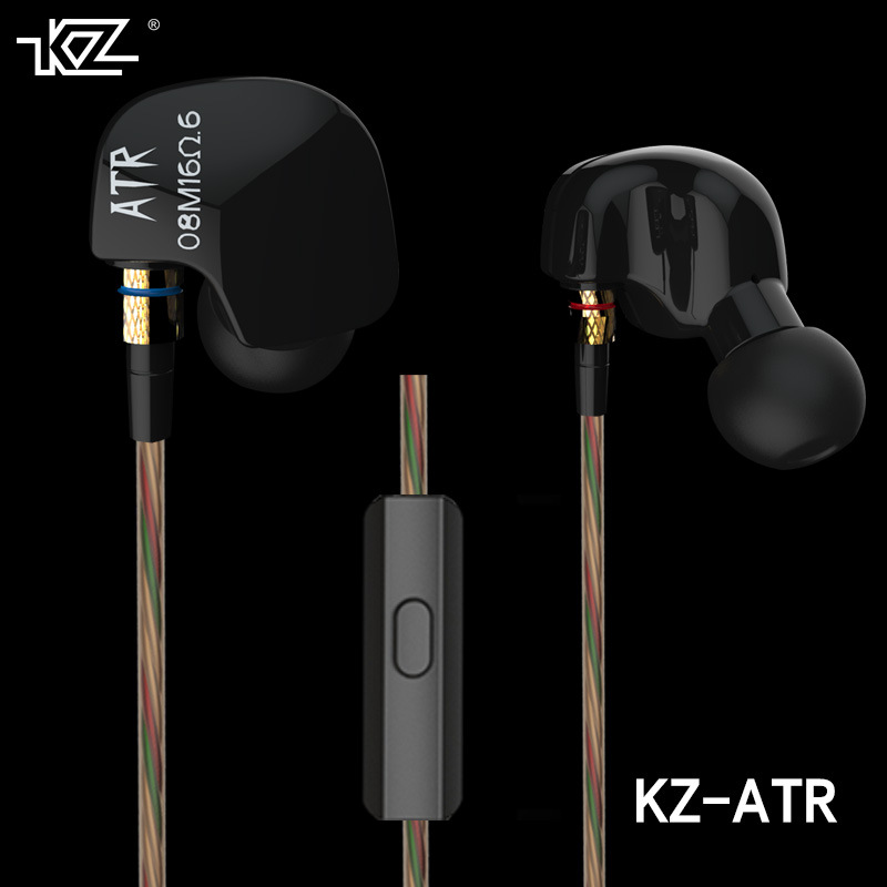 KZ ATR In Ear Earphones Noise Canceling Earbuds 3.5mm Stereo Headset Original KZ Ear Hook Sport HiFi Earphone With Microphone