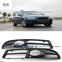 Free shipping high quality plastic front fog lamp box cover car accessories for 2005 2008 AUDI A4 B7