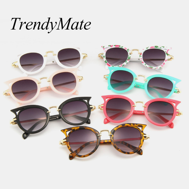 31e175d010f 2018 Candy Colors Cute Child Sunglasses Cat Eye Shape Girls boys Baby 2-8  Years Old Summer Protect Eye Glasses Kids Oculos 5202M