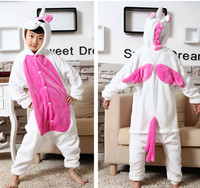 Hot Kids Unisex Animal Onesie Pajamas Cosplay Costume Onesie Sleepwear Red Rose Unicorn