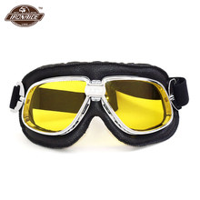 4b49b7f49db50 Óculos de Moto Capacete de Motocross Óculos De Proteção Da Motocicleta do vintage  Retro Steampunk Óculos De Motociclista Moto Sc..