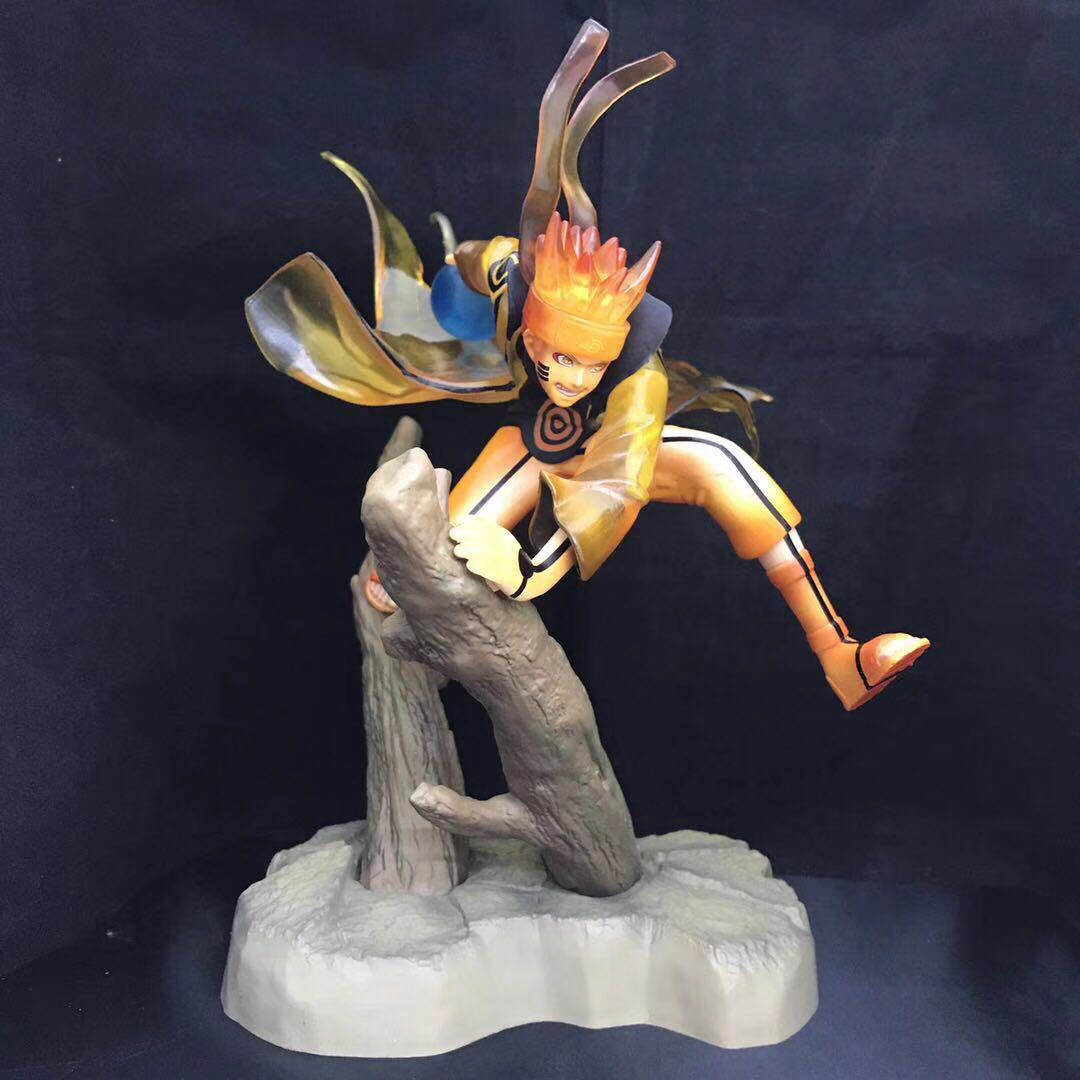 new 25cm Naruto figure Uzumaki Naruto celestial being Nine tails mode PVC action figure collection model toy