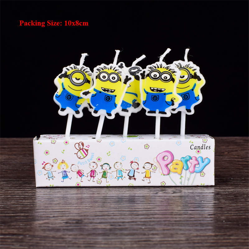 despicable me minion decorative candles for cakes baby children kids birthday parties decorations cake candle