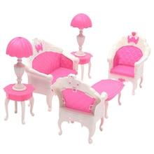 Playset диван-кресло, домик барби кукольный гостиная салон куклы мебель милый стол