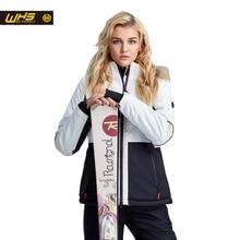 WHS Новых мужчин лыжные куртки зима водонепроницаемый Меховой воротник пальто женские спорт на открытом воздухе восхождение костюмы Шить цвет жакет