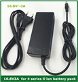 16.8V3A 16.8 V 3A lítio carregador de bateria li-ion para 4 série 14.4 V 14.8 V li-ion polímero de lítio pacote batterry boa qualidade