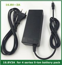 16.8V3A 16.8V 3A caricabatterie agli ioni di litio agli ioni di litio per 4 serie 14.4V 14.8V batteria ai polimeri di litio agli ioni di litio di buona qualità
