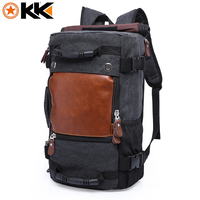 KAKA 0208 Vintage Canvas Travel Backpack Men Large Capacity Luggage Shoulder Bags Backpacks Male Waterproof Backpack