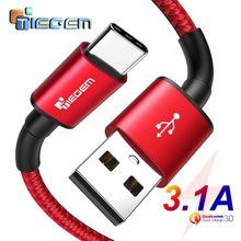 Tiegem USB Type C Cable for One Plus 6 5t Quick Charge QC3.0 USB C Fast Charging USB Charger Cable for Samsung Galaxy S9 S8 3.1A(China)