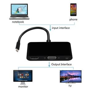 Image 5 - 3 1 で USB C ハブタイプ C に 4 18K 1080 1080p hdmi USB3.0 VGA 3.5 ミリメートルオーディオアダプタ macbook ノートパソコンのヘッドホン adaptador usb ドックケーブル