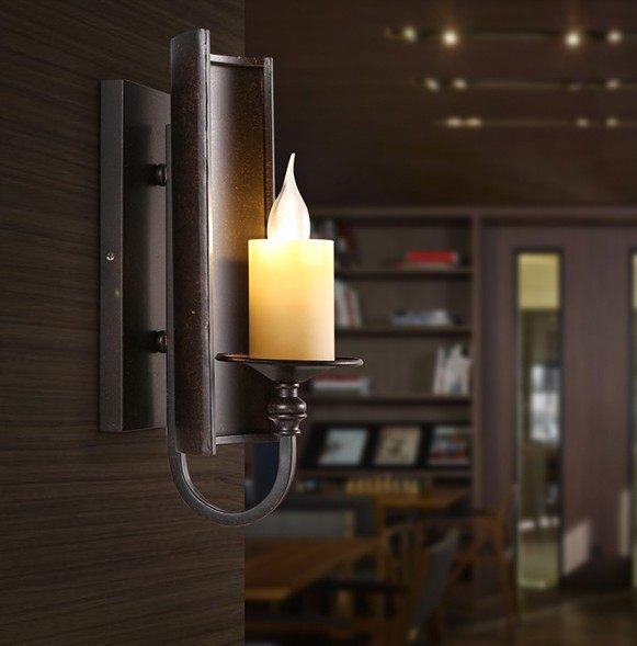 Dining Room Wall Sconces: ᗗNordic Loft Style Vintage ᐂ LED LED Wall Light Fixtures