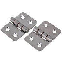 60x40mm Silver 304 Stainless Steel Door Hinges 4 Holes Kitchen Cabinet Door Cupboard Hinges Pack Of