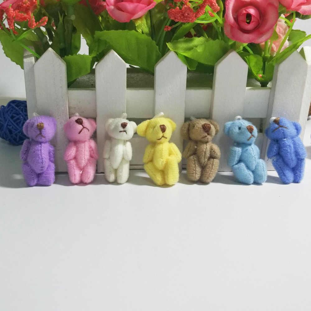 Новое поступление 100 шт/партия милые мини 3,5 см шарнир бабочка плюшевый мишка Kawaii детские мягкие игрушки куклы свадебный подарок для детей