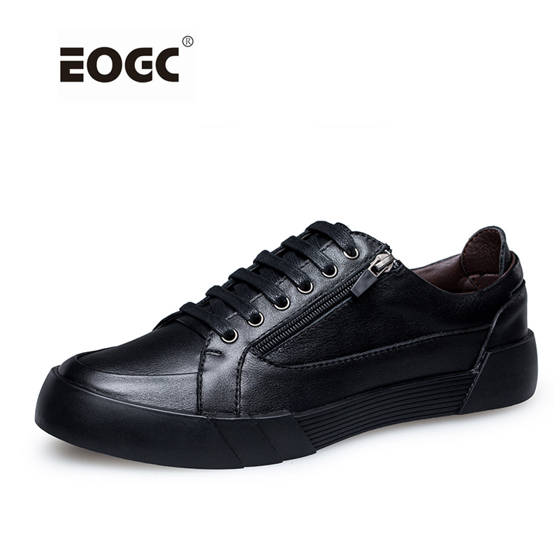 New Designer Men Shoes Full Leather Casual Shoes Men Handmade Walking Flats Lace-Up Rubber Autumn Shoes hot sale genuine leather men casual shoes black brown men flats handmade men father shoes lace up men shoes dropship