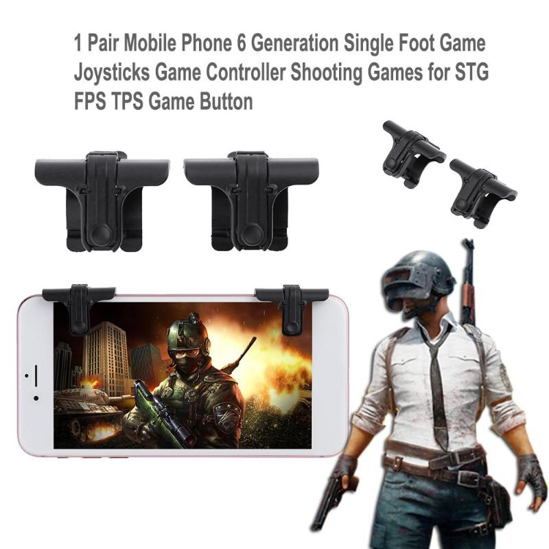 1 Pair Mobile Phone 6 Generation Single Foot Game Joysticks Game Controller Shooting Games for STG FPS TPS Game Button