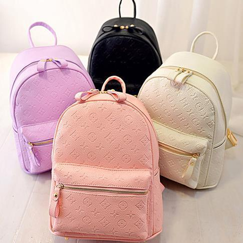 The latest spring and summer embossed Backpack female Korean tidal ...