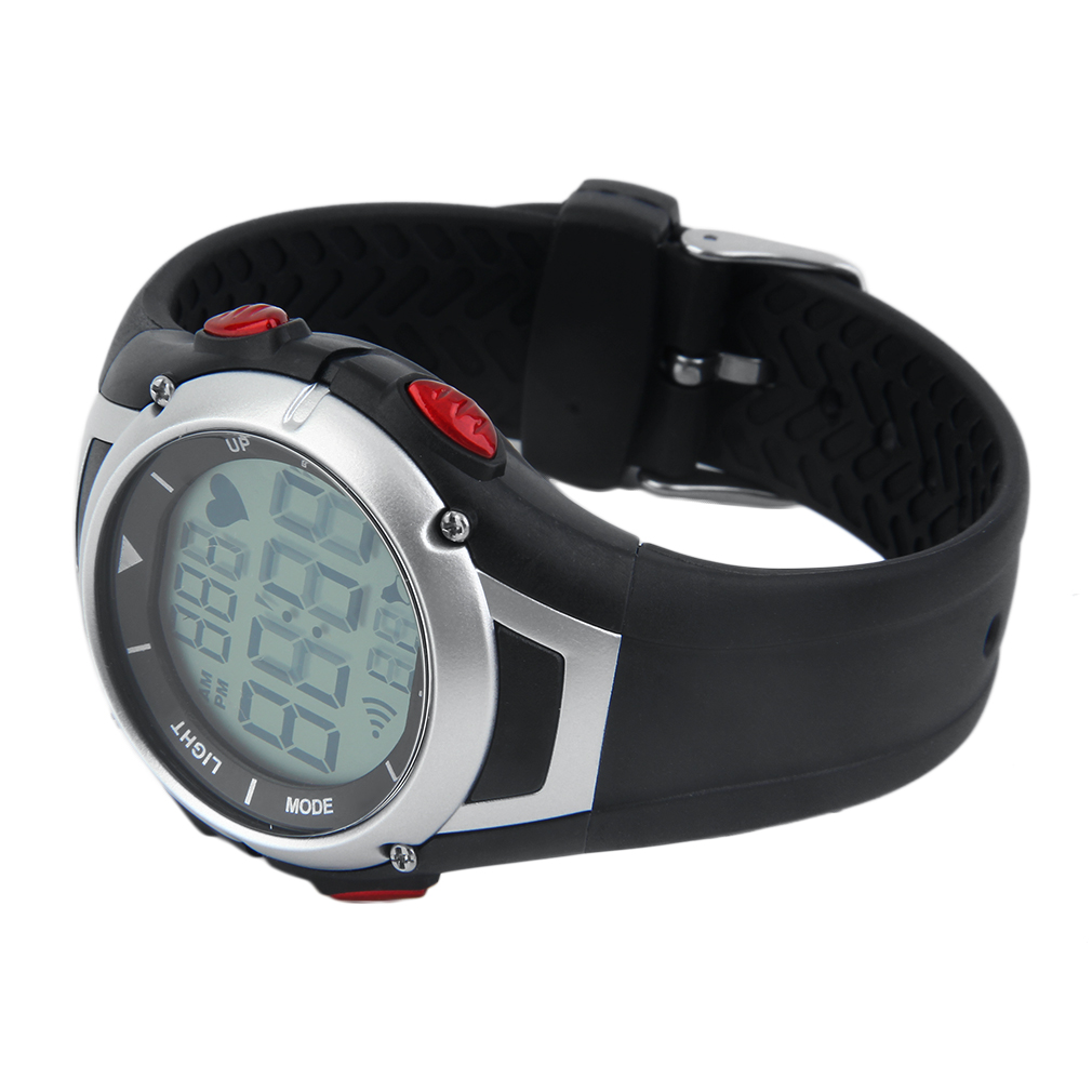 Heart Rate Monitor Track Rubber Strap Digital Wristwatch Alarm Clock Waterproof Multifunction Sports Watch For Lover