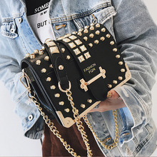 Designer Brand Women Bags Chain Crossbody Bags for Women 2019 New Luxury Ladies Leather Shoulder Bags  Rivet Small Messenger Bag 2017 new women bags 100% genuine leather women shoulder bags designer brand messenger crossbody bag retro casual ladies handbags