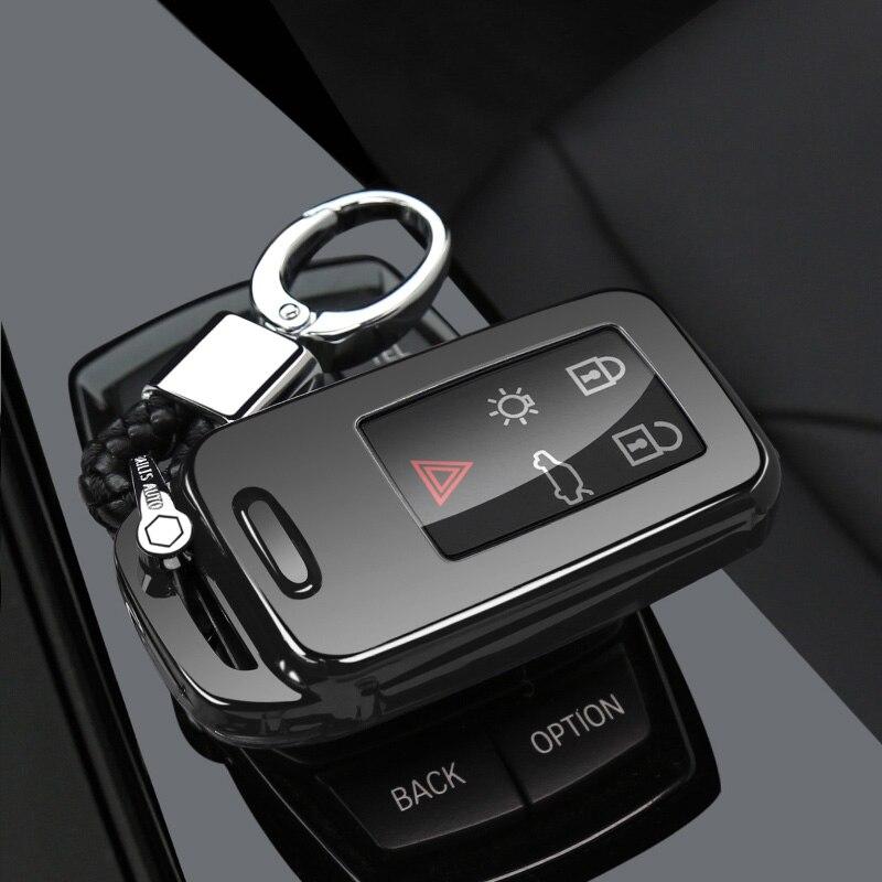 Защитный чехол ключа автомобиля чехол для VOLVO S60L S80L XC60 S60 V60 s90 cx60 xc90 vx90 стайлинга автомобилей смарт-ключ оболочки крышки брелок держатель