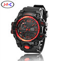 2016 NEW OHSEN digital sport mens wristwatch gifts 30M waterproof silicone band led diving military red waches relogio masculino