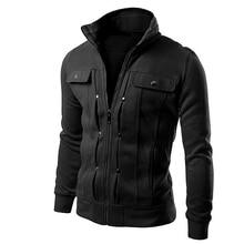 2017 Casual Jacket style Hoodie Men Tops Solid Coat Sweatshirt Men Zipper Spring Long Sleeve Multi-Color Spring Autumn Clothing