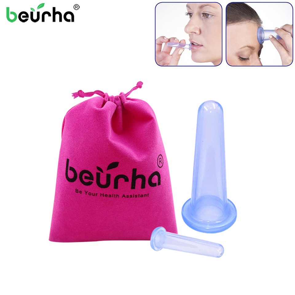 2PCS Jar Vacuum Cupping Cans for Massage Ventosa Celulitis Suction Cup Chinese Suction Cups Face Massage Cans Anti Cellulite(China)