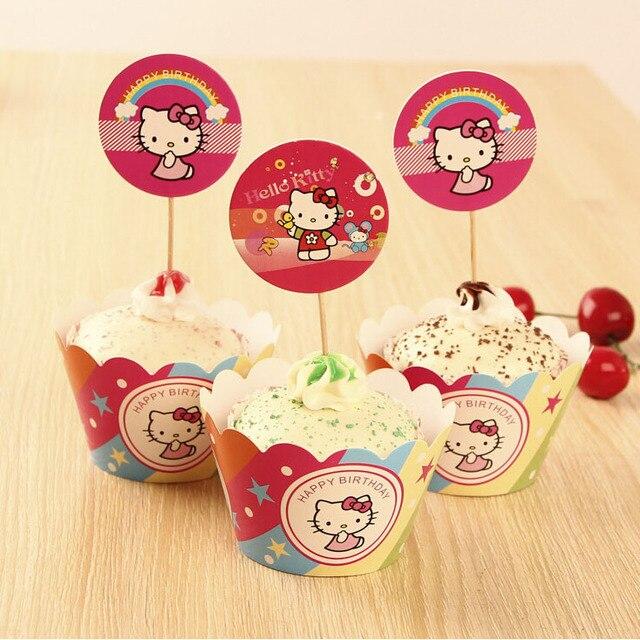 Hot sale Hello Kitty cake cup Cartoon kitty cupcake Wedding children