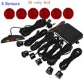 hot sale Car Parking Sensor Reverse Backup Radar LED display monitor 6 sensors 44 color for option sound alert system