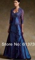 Пользовательские строки vestido де madrinha 2016 новая мода бисероплетение кружева секси длинный мать Невесты Платья с курткой бесплатно доставка
