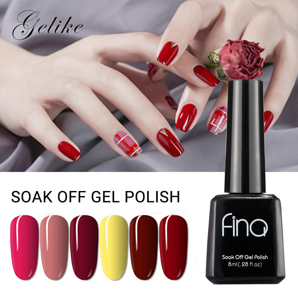Gelike 30Colors  8ml Color Sent Randomly Gel Polish Soak Off Lacquer UV Led Nail Art Varnish Semi Permanent