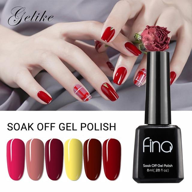 Glike 30 colores 8 ml Color enviado al azar Gel polaco remojo de Gel laca UV Led esmalte de uñas barniz Semi permanente