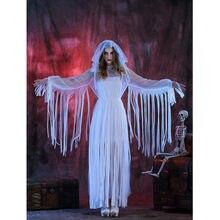 16cca11b81 Adulto Cosplay fantasma gótica corpse Bride trajes para Halloween partido  ropa femenina rol cos Vampire traje M40475