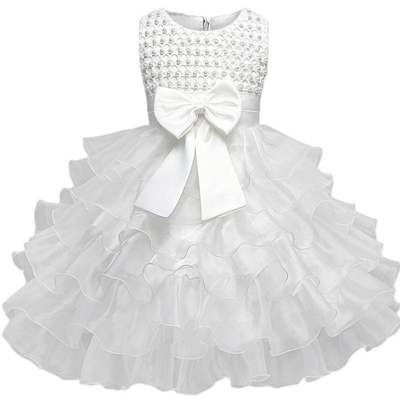 Vestidos Da Menina Do Bebê do laço 6 M-24 M 1 Anos Aniversário Das Meninas Do Bebê Vestidos de Princesa Vestido Da Menina de Vestido De Batismo vestido Infantil