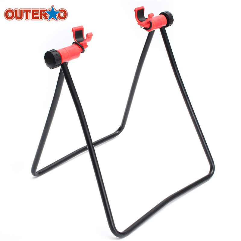OUTERDO MTB Road Mountain Cycling Bicycle Bike Stand Parking Kickstand Folding Wheel Stand Support Rack Adjustable