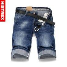 HISTREX Büyük boy Erkek Delik Kot Şort Erkek kısa kot pantolon yaz Rahat mavi kısa kot pantolon kısa pantolon Artı Boyutu 36 38 40 # HJU8L