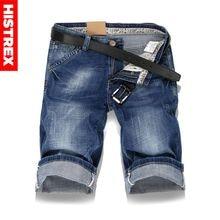 HISTREX Large size Men Hole Denim Shorts Male short jeans summer Casual blue short jeans short pants Plus Size 36 38 40 #HJU8L