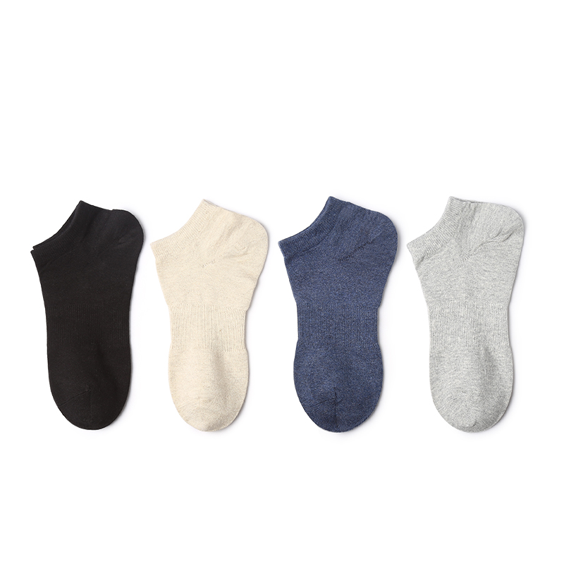 VVQI Spring summer pure color socks mens breathable black boat socks mens ankle socks ma ...