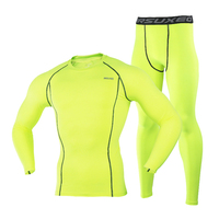 Men Winter Ski Jacket And Pants Quick Dry Thermal Underwear Men Long Johns For Ski Riding