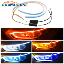 2 шт. 60 см водонепроницаемый гибкий универсальный автомобильный светодиодный DRL Дневной ходовой светильник, ходовой светильник, светодиодный фонарь, стоп-сигнал поворота, светильник s
