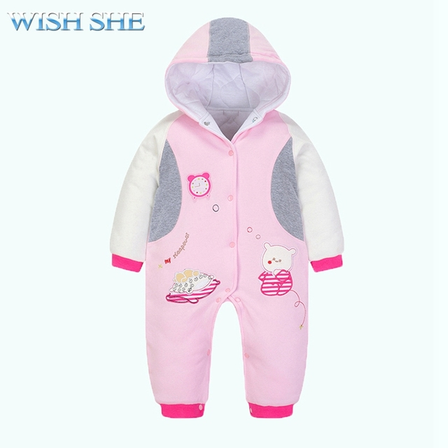 ee88df3f0 2018 New Born Baby Warm Jumpsuit Thick Long Sleeve Clothing Snow ...
