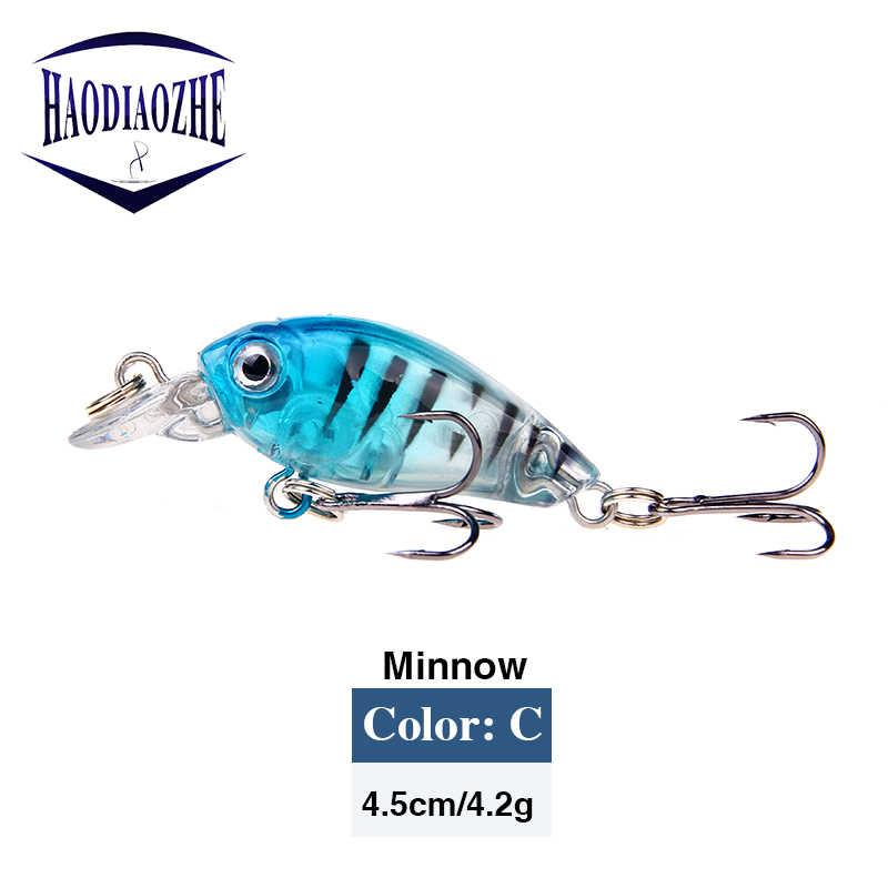 4 cm 3.5g nager poisson pêche leurre artificiel dur manivelle appât Topwater Wobblers réaliste nagbait japon Mini pêche manivelle appât