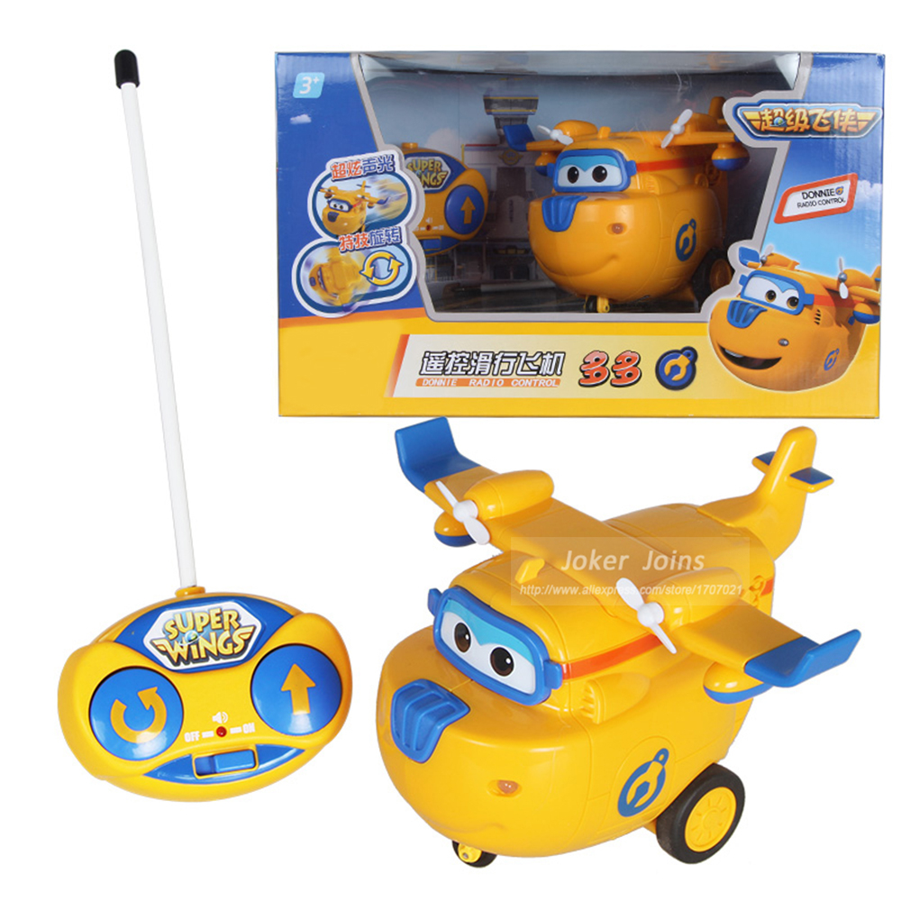 Remote Control Super Wings Action Toys Figure RC Planes Super Wing Toys 15 cm jimbo super wings mini airplane abs robot toys action figures super wing transformation jet animation children kids gift