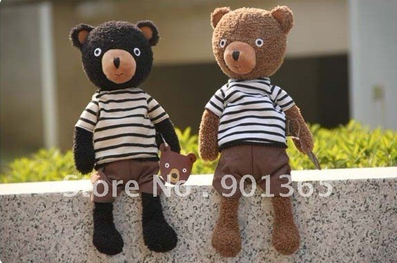 30% Off 23CM Plush Toy Doll Retro Dressing Cloth Teddy Bear As Gift 10pcs/lot
