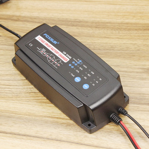 Image 4 - Foxsur 12ボルト2a 4a 8a自動スマートバッテリ充電器、7 stageスマートバッテリ充電器、車のバッテリー充電器用ゲルウェットagmバッテリー