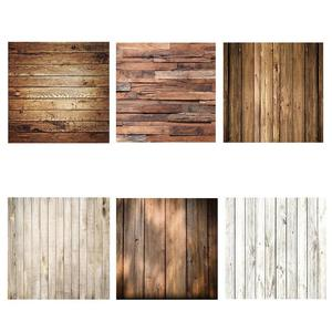 Image 2 - 60x60cm Retro Wood Board Texture Photography Background Backdrop Cloth Studio Video Photo Backgrounds Props For Food
