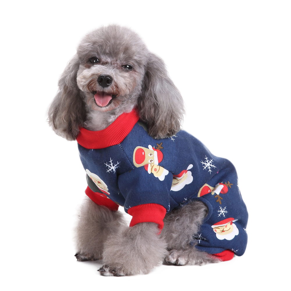 Santa Claus Four-legged Puppy Doggy Clothes Christmas Dog Pajamas Dog Jumpsuits For Chihuahua Yorkshire