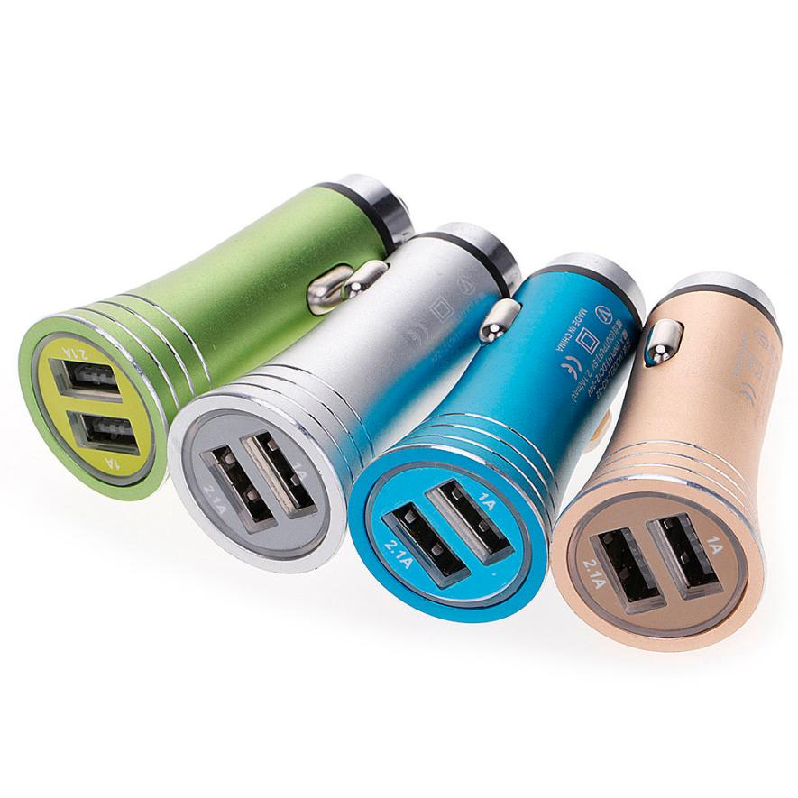 2017 Top sale New Universal 5.0V 2.1A1A Dual USB 2.1A Car Charger Fast Charging Adapter For Smartphone for Samsung for iphone