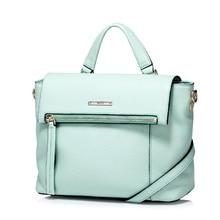 2016 Women's Zip Cowhide Leather New Versatile Top Handle Handbag Shoulder Bag Crossbody Purse Satchel