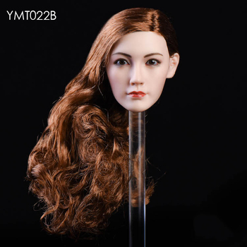 """1:6 Scale Asian Beauty Soldier Head Sculpt and Long Hair YMT021 for 12/"""" Doll"""