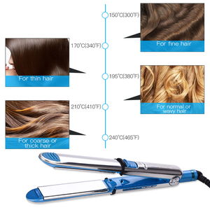 Image 2 - Professional 2 in 1 Tourmaline Ceramic Hair Straightener Curler Temperature Adjustable Fast Heating Plate Iron Styling Tools P48